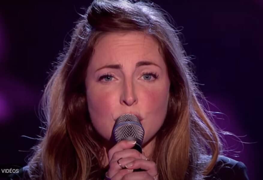 Rose Farquhar dans The Voice UK, en 2016.