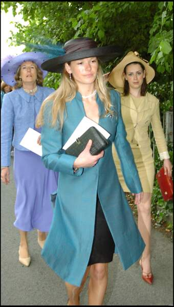 Davina Duckworth Chad au mariage de Hugh Van Cutsem et Rose Astor, à Oxford, le 4 juin 2005