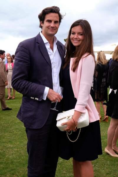 """Lady Natasha Rufus-Isaacs et son mari Rupert Finch lors de la finale de la """"Queens Cup Polo"""" au Park Polo Club à Windsor, le 15 juin 2014."""