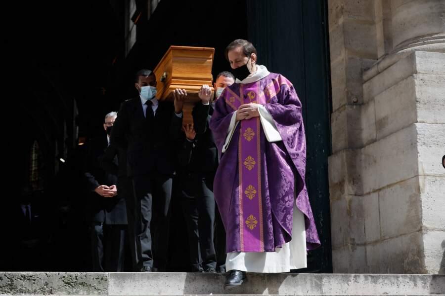 Le cercueil de Myriam Colombi à l'église Saint-Roch à Paris, ce lundi 26 avril 2021