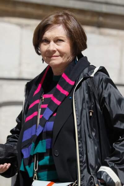 Macha Méril a assisté aux obsèques de Myriam Colombi ce lundi 26 avril 2021 à l'église Saint-Roch à Paris