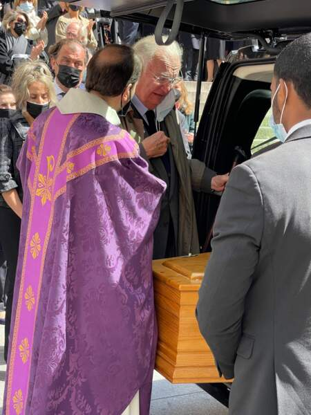 Jean-Louis Vilgrain lors des obsèques de Myriam Colombi ce lundi 26 avril 2021 à l'église Saint-Roch à Paris