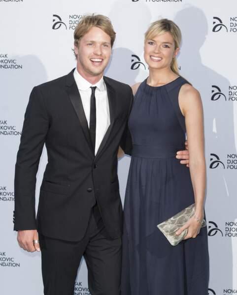Sam Branson et Isabella Anstruther-Gough-Calthorpe - Diner de la soiree de gala de la fondation Novak Djokovic à Londres, le 8 juillet 2013.