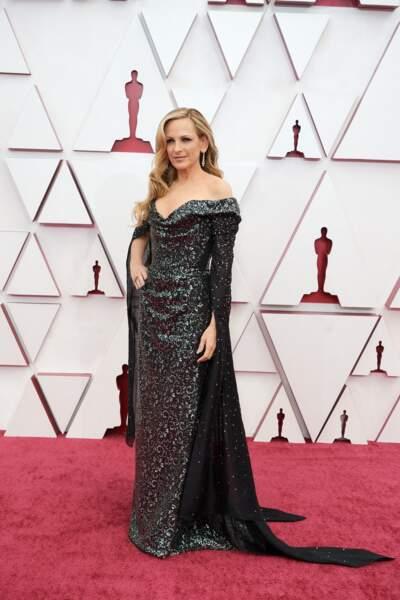 Marlee Matlin en robe scintillante Vivienne Westwood lors de la 93e cérémonie des Oscars le 25 avril 2021.