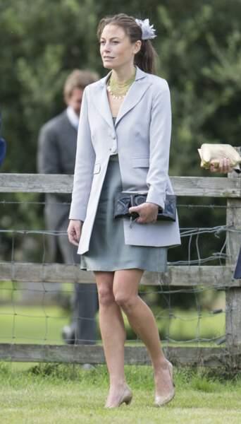 Jecca Craig au mariage de Lady Laura Marsham et James Meade a Norfolk, le 14 septembre 2013.