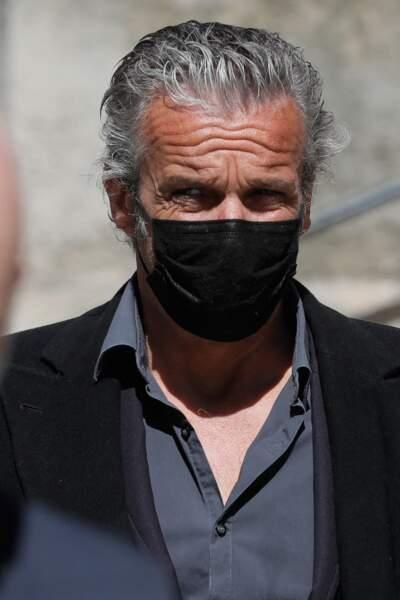 Le comédien David Brécourt aux obsèques de Myriam Colombi ce lundi 26 avril