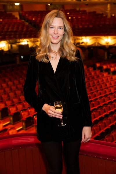 Olivia Hunt lors de la première de 'La Traviata' à l'English National Opera de Londres, le 22 mars 2018.