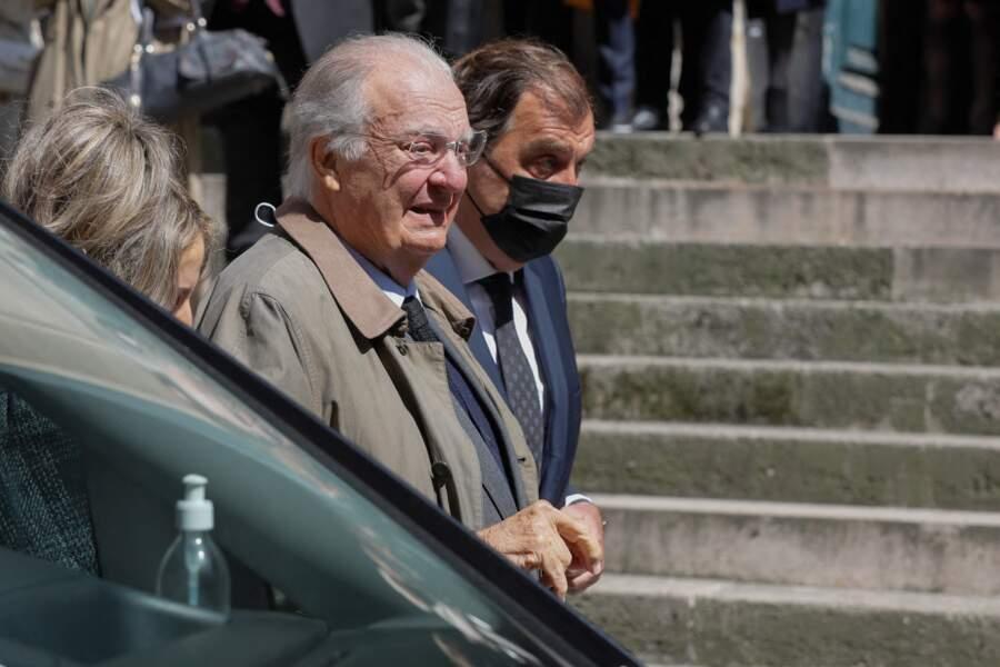Jean-Louis de Vilgrain aux obsèques de Myriam Colombi ce lundi 26 avril