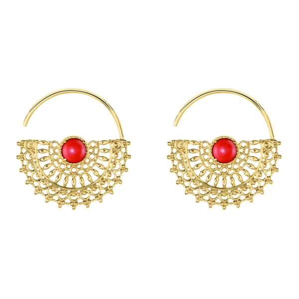 Boucles D'oreilles Pendantes Naim Plaque Or Jaune, Histoire d'Or, 79€