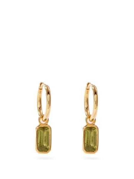 Boucles d'oreilles en argent sterling et péridot, 388€, Theodora Warre sur Matches Fashion