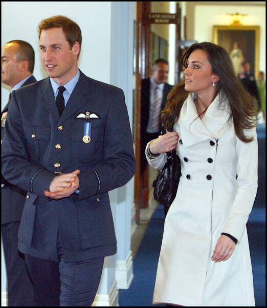 Kate Middleton et le prince William le 11 avril 2008 au 90 ème anniversaire de la Royal Air Force