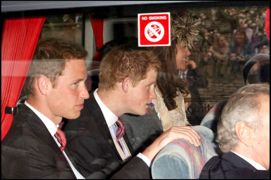 Le prince William, Harry et Kate Middleton le 6 mai 2006 à Londres