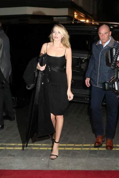 "Margot Robbie au dîner Pre-BAFTA ""Charles Finch & Chanel"" à Londres le 9 février 2019."