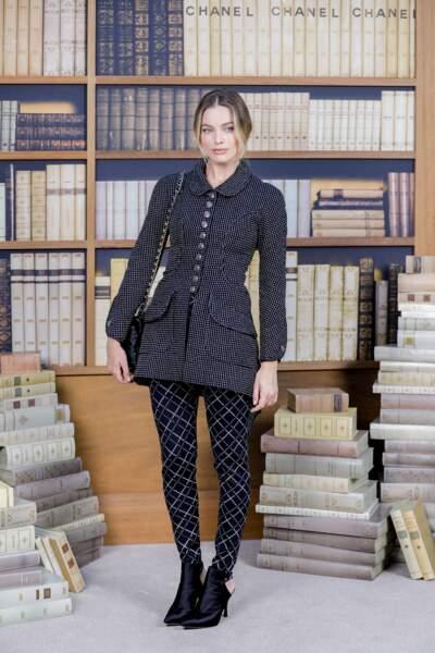 L'actrice au défilé de mode Haute-Couture automne-hiver 2019-20 de Chanel à Paris le 2 juillet 2019