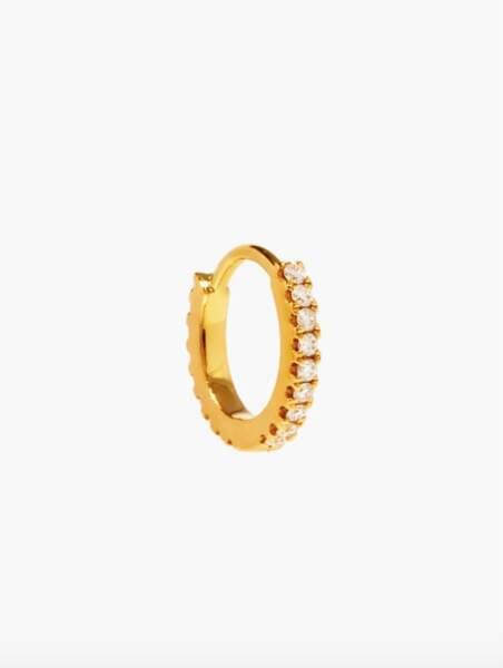 Boucle d'oreille en or et diamants Eternity, 460€, Maria Tash sur Matches Fashion