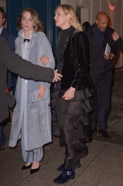 Uma Thurman et sa fille Maya Hawke à Paris en 2019