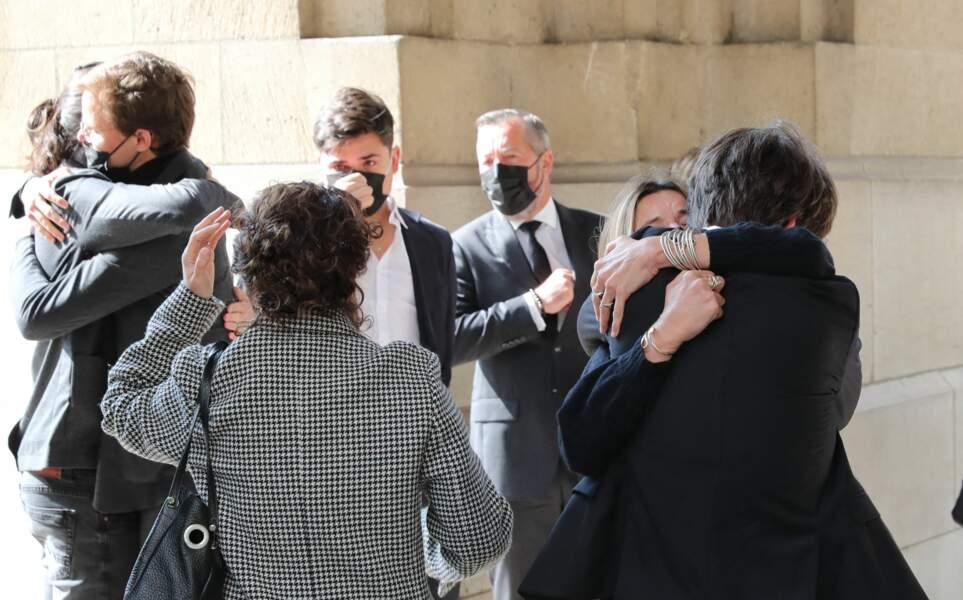 Très vive émotion du clan Rénier avec César Angeli, Oscar Rénier, Léo Angeli et Jules Rénier