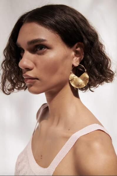 Boucles d'oreilles à anneaux en demi-cercle, 9,95€, Zara