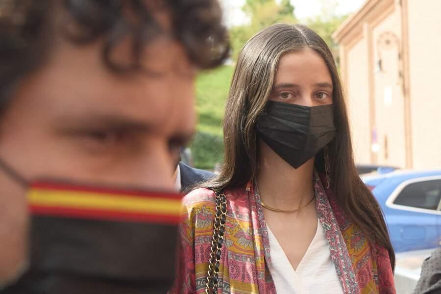 Pour sa venue dans les arènes Las Ventas de Madrid, Victoria de Marichalar a misé sur une tenue stylée et tout à fait dans le thème !