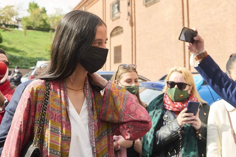 L'arrivée de Victoria de Marichalar aux arènes Las Ventas à Madrid, cz dimanche 2 mai 2021, n'est en tout cas pas passée inaperçue.