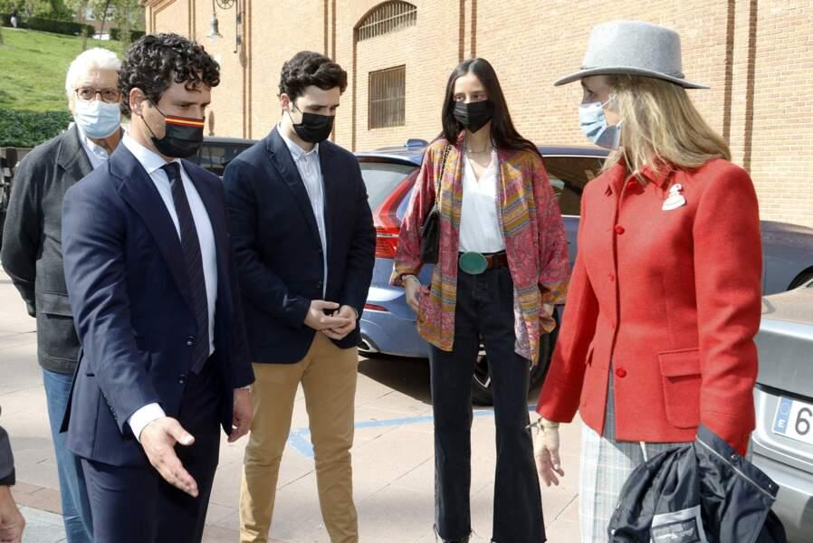 Victoria de Marichalar, la discrète cousine de Leonor d'Espagne, s'est octroyée une sortie en famille aux arènes de Las Ventas, à Madrid, ce dimanche 2 mai 2021.