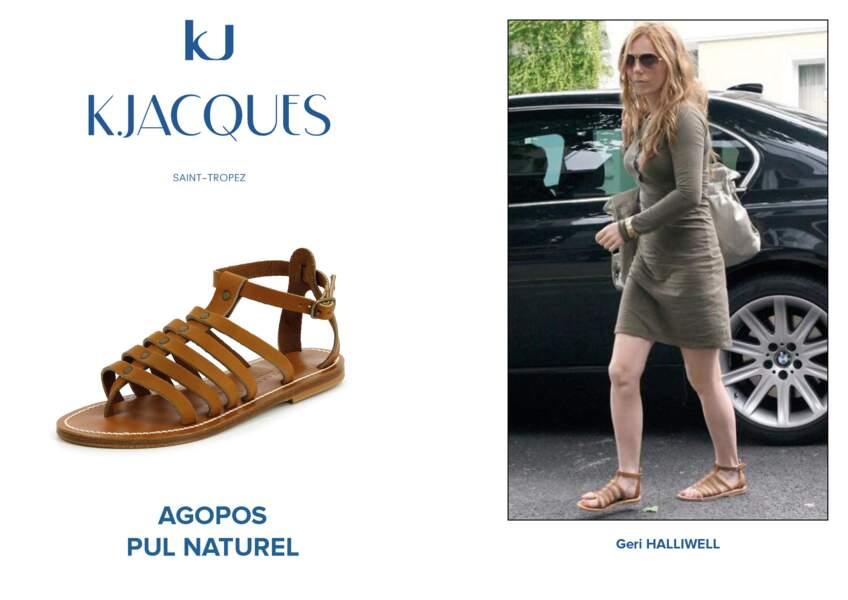 Geri Halliwell porte le modèle Agopos de K.Jacques.