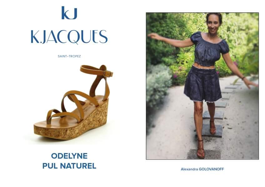 Alexandra Golovanoff porte le modèle Odelyne de K.Jacques.