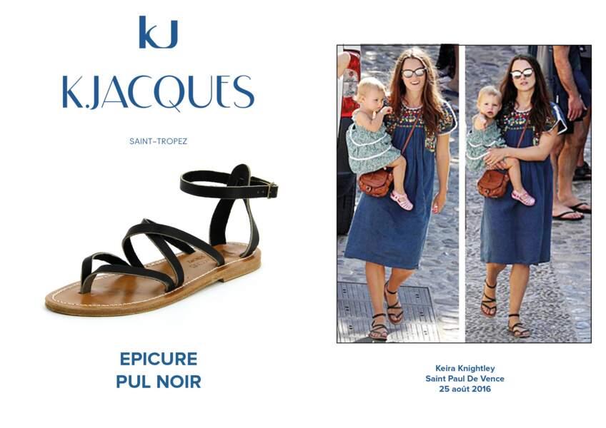 Keira Knightley porte le modèle Epicure de K.Jacques.