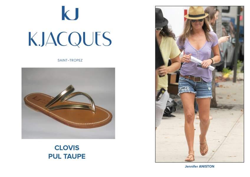 Jennifer Aniston porte le modèle Clovis de K.Jacques.