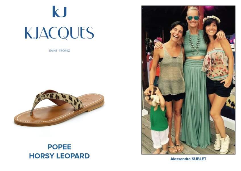 Alessandra Sublet porte le modèle Popee de K.Jacques.