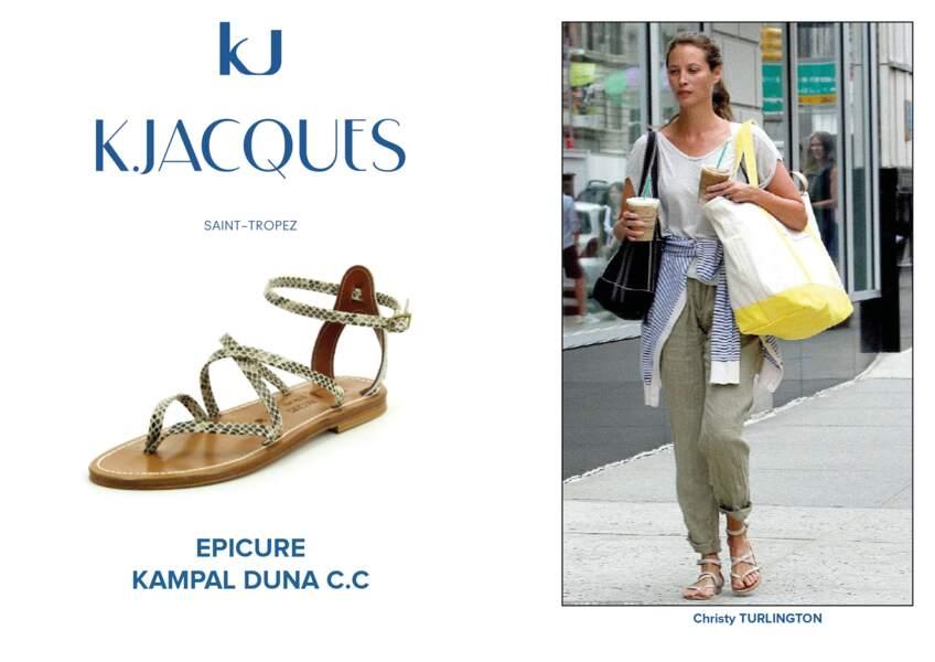 Christy Turlington porte le modèle Epicure de K.Jacques.
