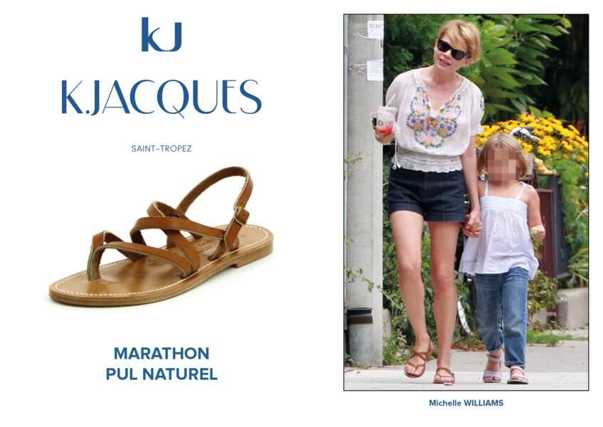 Michelle Williams porte le modèle Marathon de K.Jacques.