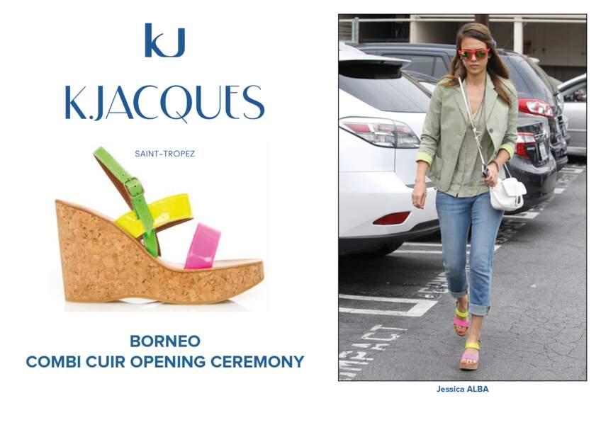 Jessica Alba porte le modèle Borneo de K.Jacques.