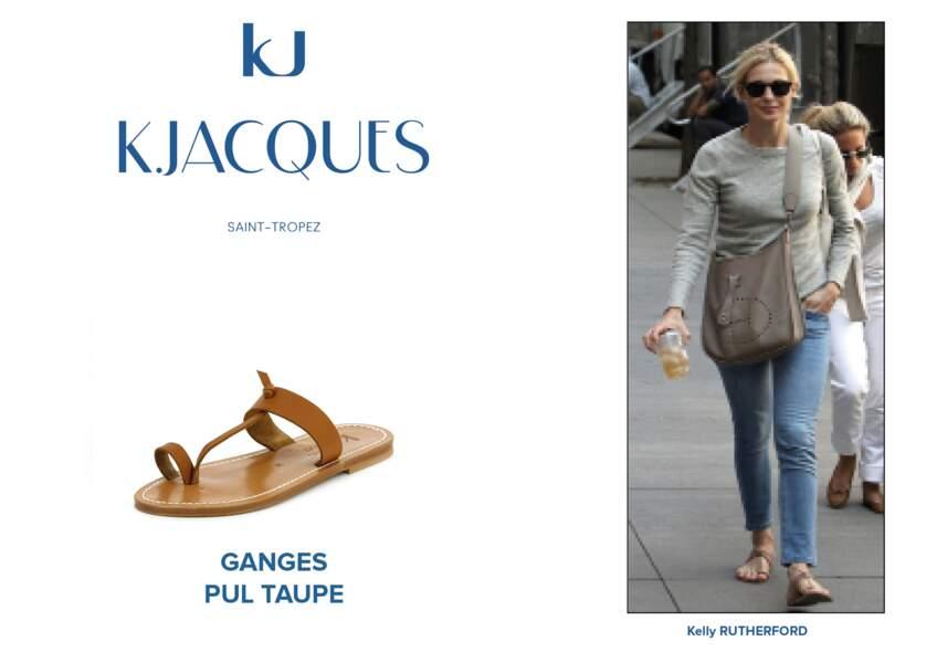 Kelly Rutherford porte le modèle Ganges de K.Jacques.
