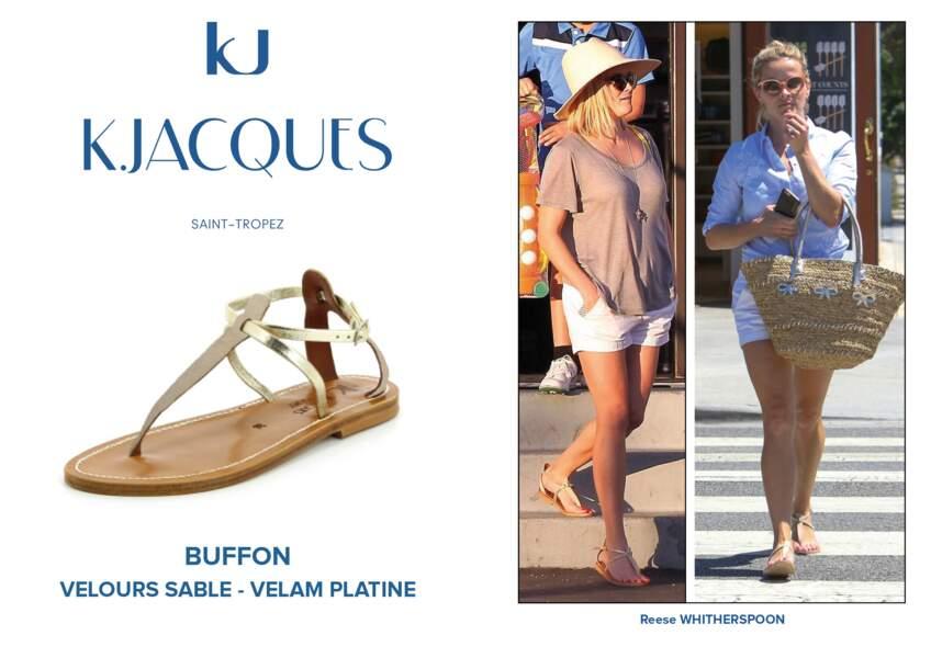 Reese Whitherspoon porte le modèle Buffon de K.Jacques.
