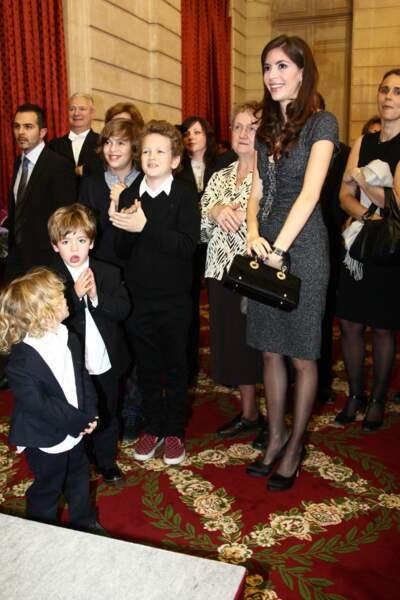 Dany Boon et son ex-femme Yaël, cérémonie de la légion d'honneur, le 10 novembre 2009.