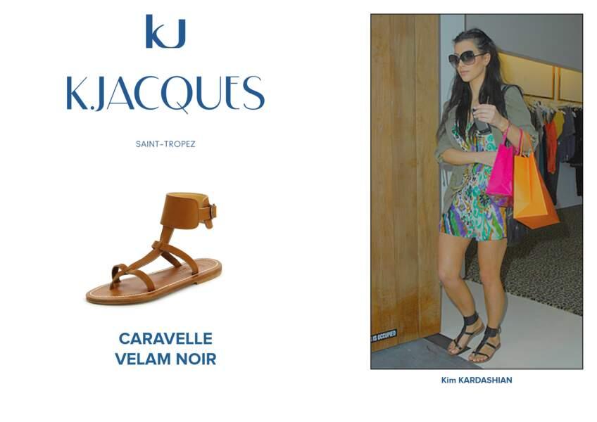 Kim Kardashian porte le modèle Caravelle de K.Jacques.
