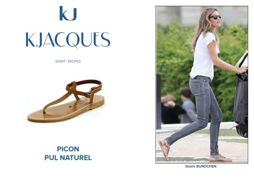 Gisele Bundchen porte le modèle Picon de K.Jacques.