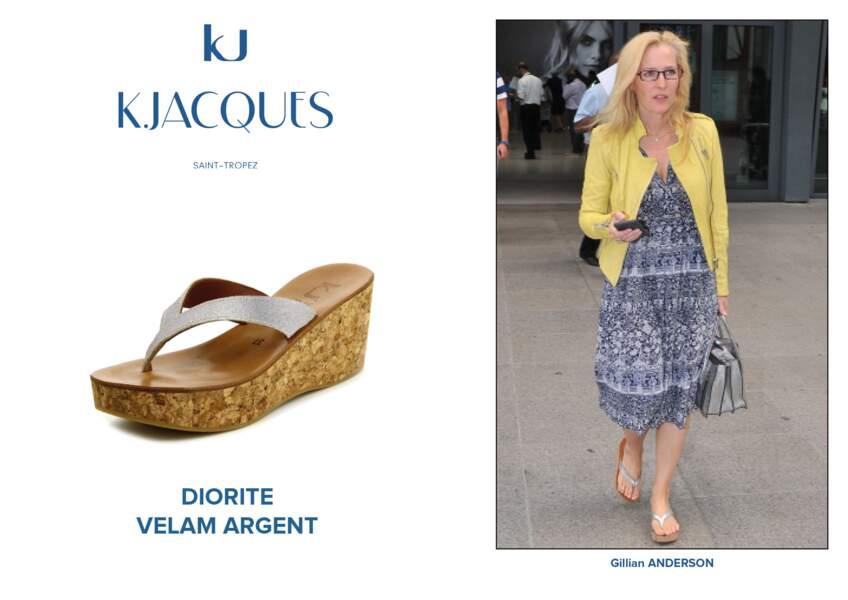 Gillian Anderson porte le modèle Diorite de K.Jacques.