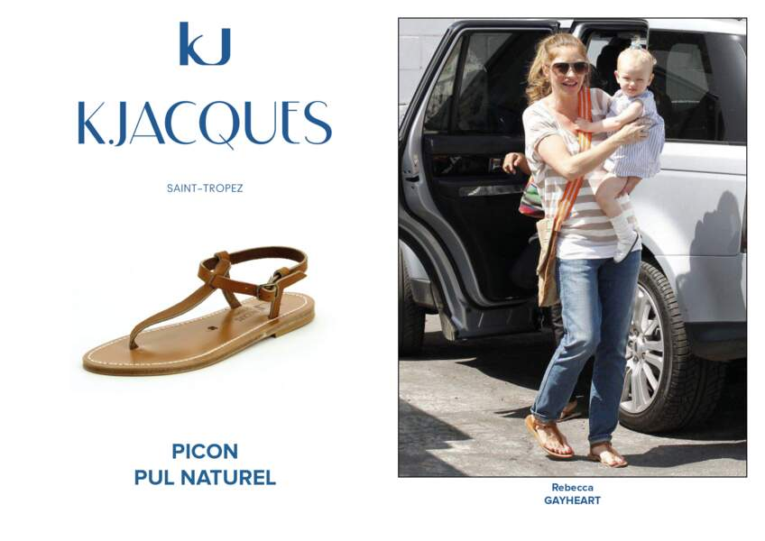 Rebecca Gayheart porte le modèle Picon de K.Jacques.