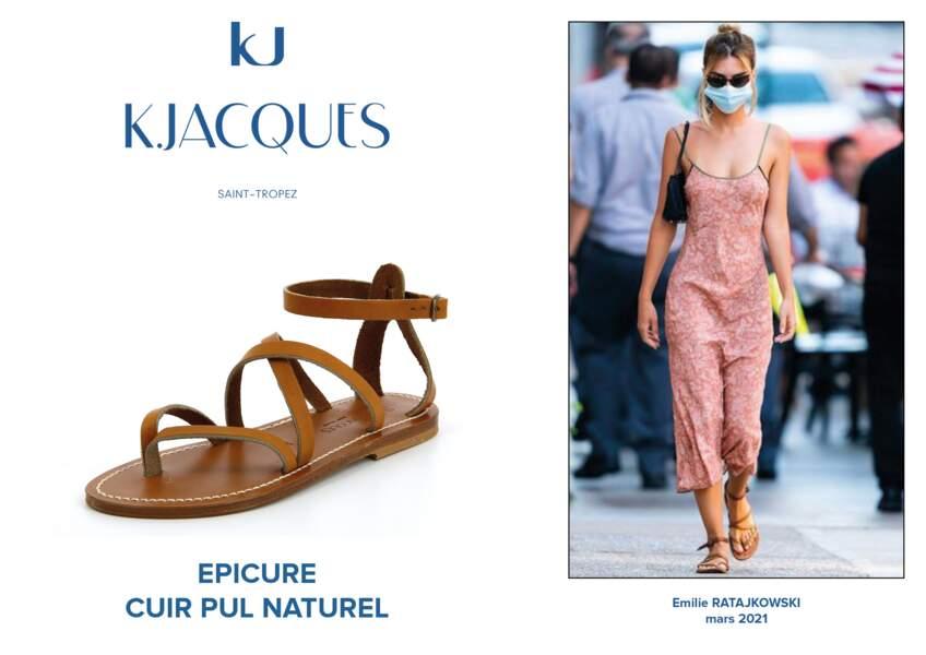 Emily Ratajkowski porte le modèle Epicure de K.Jacques.