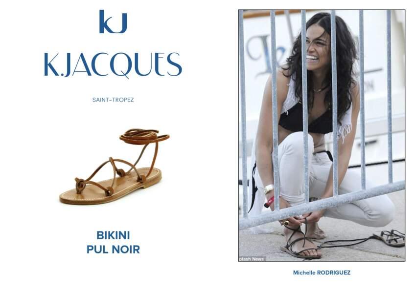 Michelle Rodriguez porte le modèle Bikini de K.Jacques.