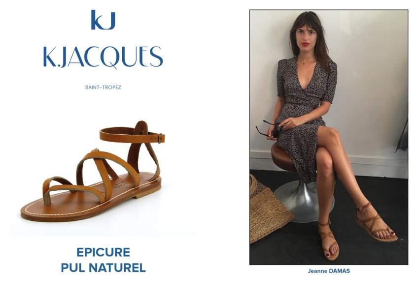 Jeanne Damas porte le modèle Epicure de K.Jacques.
