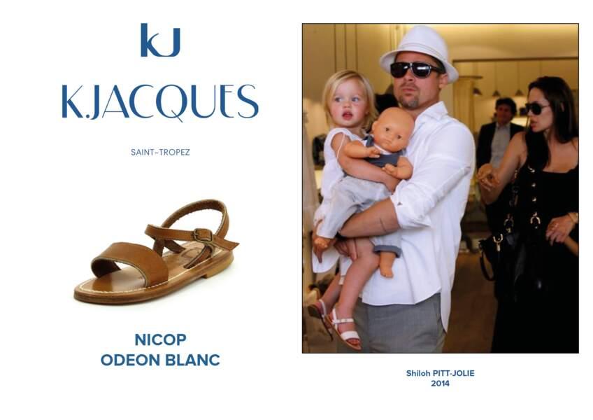 Shiloh Pitt-Jolie porte le modèle Nicop pour enfant de K.Jacques.