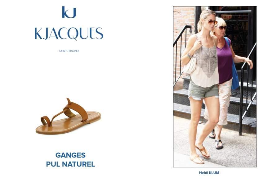 Heidi Klum porte le modèle Ganges de K.Jacques.