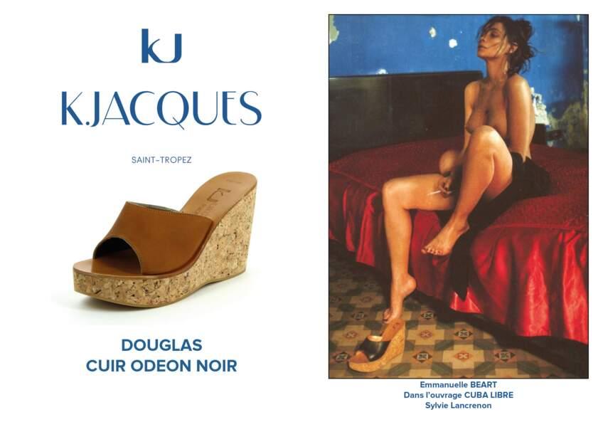 Emmanuelle Béart dans l'ouvrage Cuba Libre porte le modèle Douglas de K.Jacques.