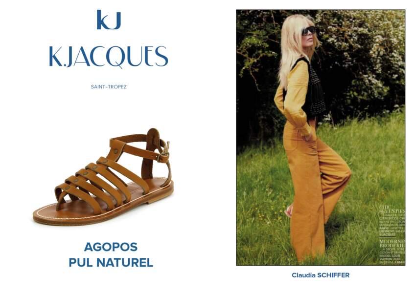 Claudia Schiffer porte le modèle Agopos de K.Jacques.