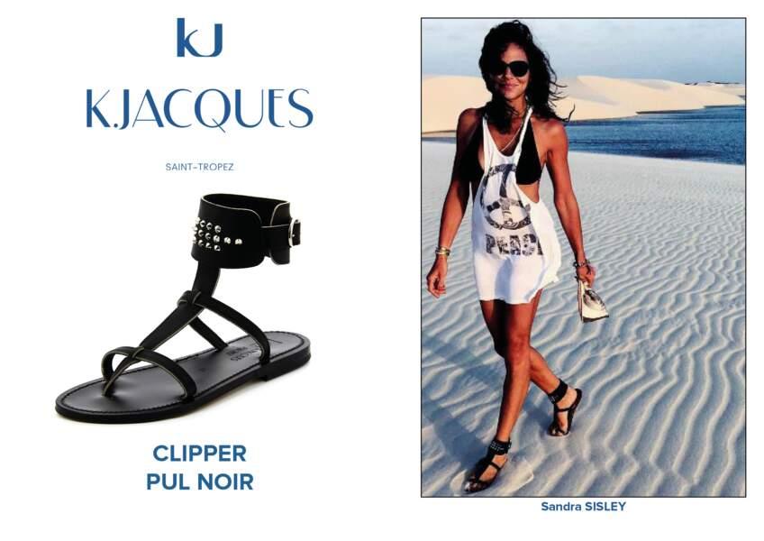 Sandra Sisley porte le modèle Clipper de K.Jacques.