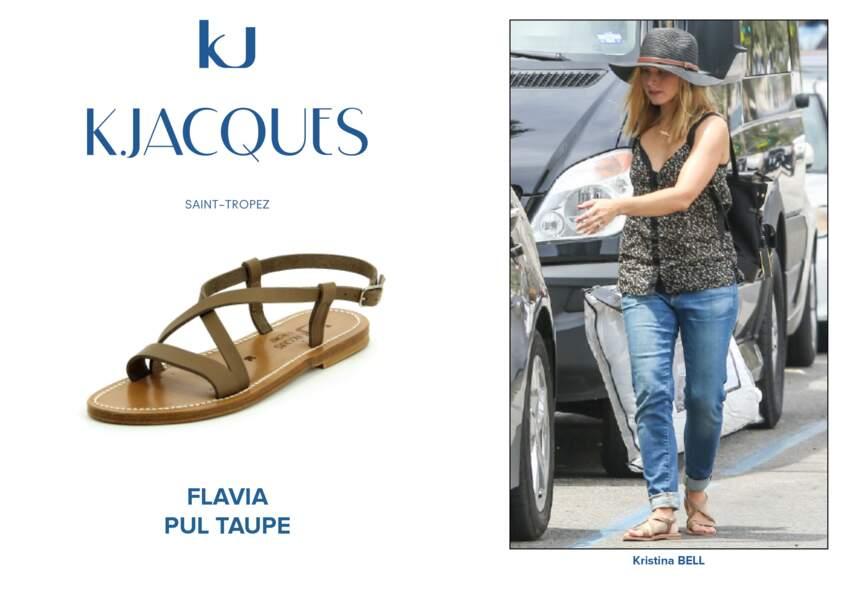 Kristina Bell porte le modèle Flavia de K.Jacques.