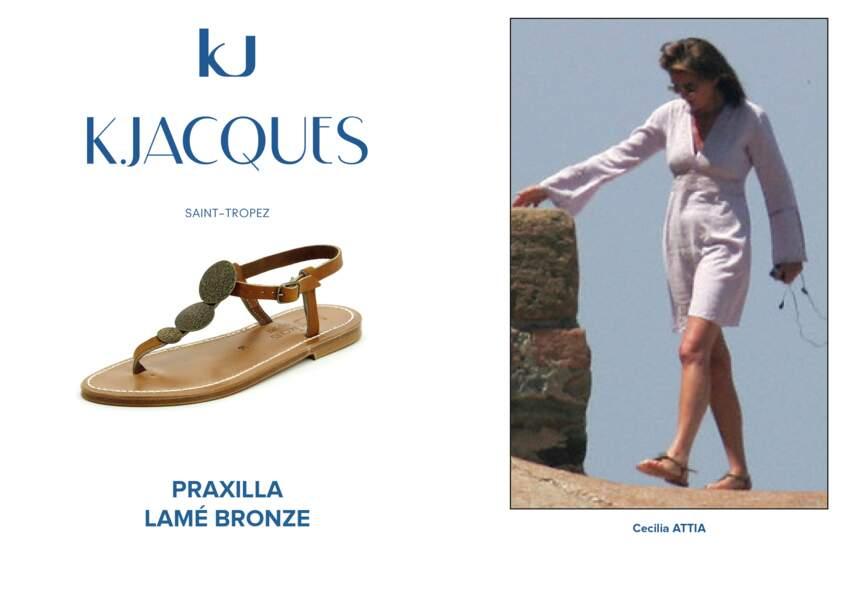 Cecilia Attias porte le modèle Praxilla de K.Jacques.